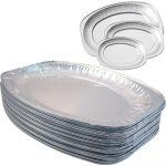 Alu ovál tálca (43 x 31 cm) 5 személyes [ 60 db/# ]