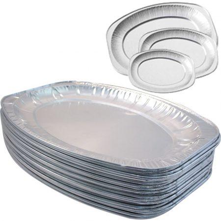 Alu ovál tálca (53 x 36 cm) 10 személyes [ 50 db/# ]