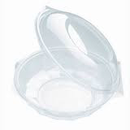 """Delikát"" round plastic bowl for salad with lid 750 ml (240 pcs/ctn)"