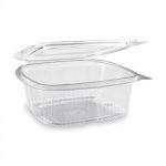 """""""Gastro"""" square plastic bowl with lid 1000 ml (50 pcs/pack) (400 pcs/ctn)"""