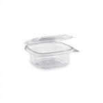 """""""Gastro"""" square plastic bowl with lid 250 ml (50 pcs/pack) (600 pcs/ctn)"""
