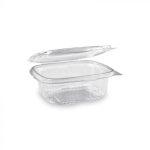 """""""Gastro"""" square plastic bowl with lid 375 ml (50 pcs/pack) (600 pcs/ctn)"""