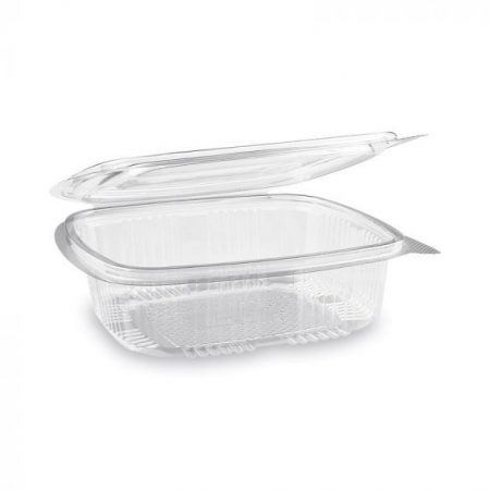 """""""Gastro"""" square plastic bowl with lid 750 ml (50 pcs/pack) (400 pcs/ctn)"""