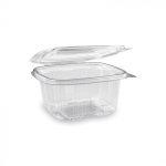 """Hotform"" square plastic bowl with lid 500 ml (50 pcs/pack) (600 db/ctn)"