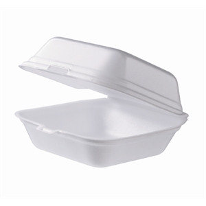 Foam box HP7 for hamburgers (135 x 135 x 70 mm) (125 pcs/pck) (500 pcs/ctn)