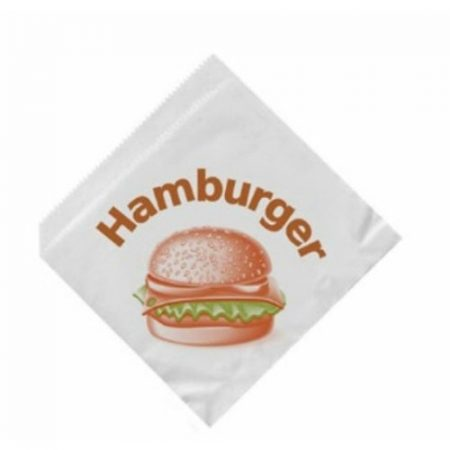 Hamburger/gyros/pita paper packet with design (15 x 15 cm) (200 pcs/pck)