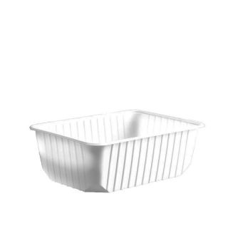 Import műanyag szögletes alj 1000 ml fehér PP [ 50 db/cs ] [ 12 cs/# ]