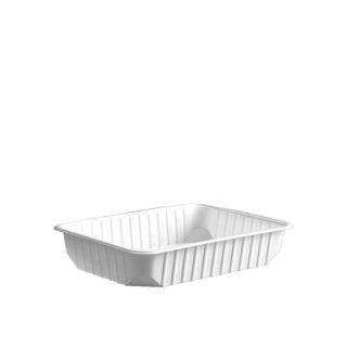Import műanyag szögletes alj 500 ml fehér PP [ 50 db/cs ] [ 12 cs/# ]
