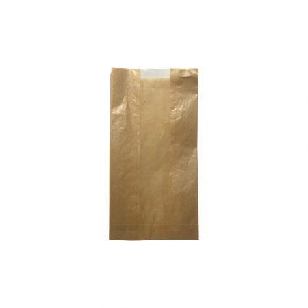 Papírzacskó ablakos barna nátron/kraft (180/65 x 350 mm) [ 1000 db/# ]