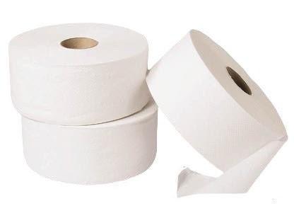 Toilet paper 28 cm roller 2 layers white (6 pcs/ctn)