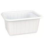 Varia  mini szögletes alj fehér PS 425 ml [ 50 db/cs ] [ 16 cs/# ]