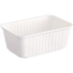 Varia szögletes alj fehér PP 1000 ml [ 50 db/cs ] [ 8 cs/# ]
