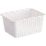 Varia szögletes alj fehér PP 1200 ml [ 50 db/cs ] [ 8 cs/# ]