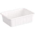 Varia szögletes alj fehér PP 750 ml [ 50 db/cs ] [ 8 cs/# ]