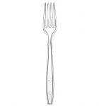 Fork water-clear plastic superior (50 pcs/pck) (40 pck/ctn)