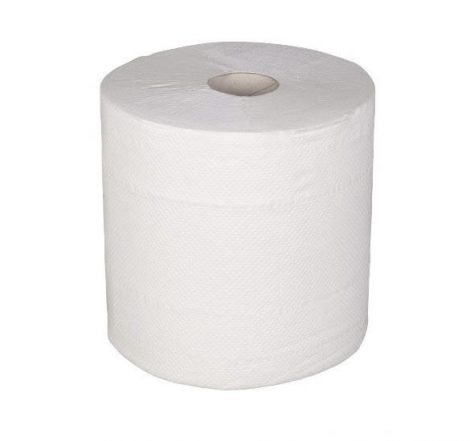 Hand towel cylindrical 100% cell white 500 sheets/roll 19 cm (6 roll/pck)