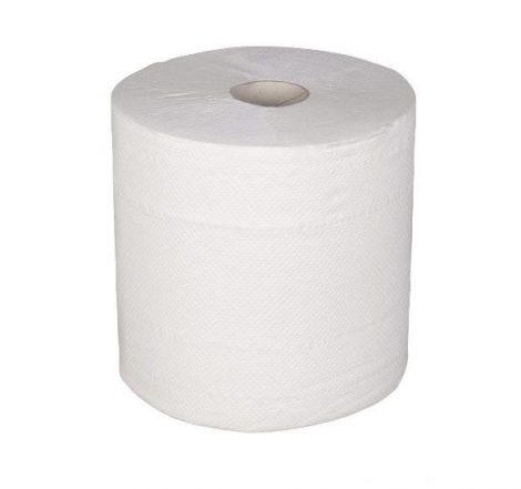 Kéztörlő hengeres 100% cell, fehér 500 lap/tekercs 19 cm [ 6 tek/cs ]