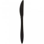 Knife plastic black Superior [50 pcs/pck] [40 pck/ctn]