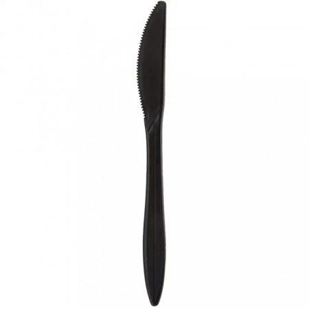 Kés műanyag fekete superior [ 50 db/cs ] [ 40 cs/# ] többször használható