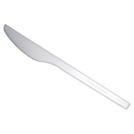 ÖKO CPLA knife white compostable (50 pcs/pck) (20 pck/ctn)