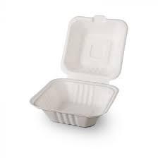 ÖKO sugorcane hamburger box (152 x 150 x 78 mm) (50 pcs/pck) (3 pck/ctn)