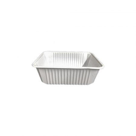 B-import plastic square box 500 ml white PP (50 pcs/pck) (6 pck/ctn)