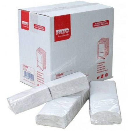 Szalvéta 1r. tartóba 17*17 cm fehér Fato (3000 db/#) fagyihoz