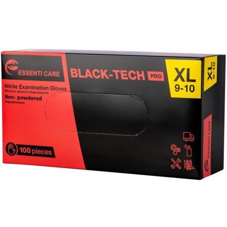 Gumikesztyű nitryl Essenti púdermentes fekete XL [ 100 db/cs] [ 10 cs/# ] AKCIÓS